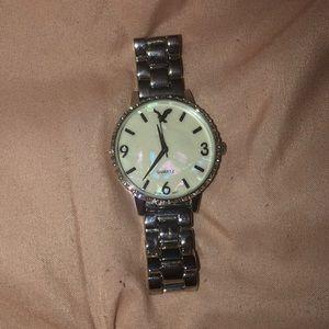 american eagle silver quartz watch